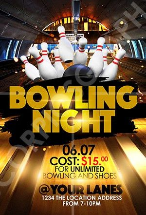 ScorpiosGraphx Bowling Night Flyer Template ...
