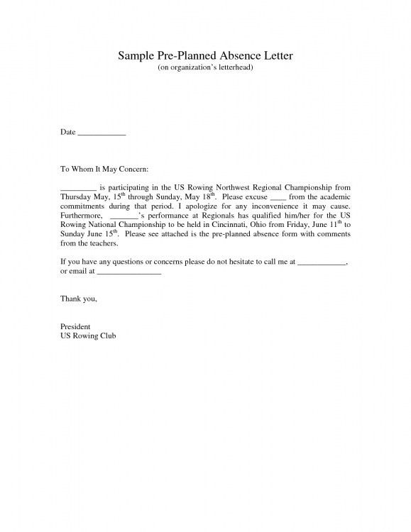 example of excuse letter for working student – 2017 Letter Format