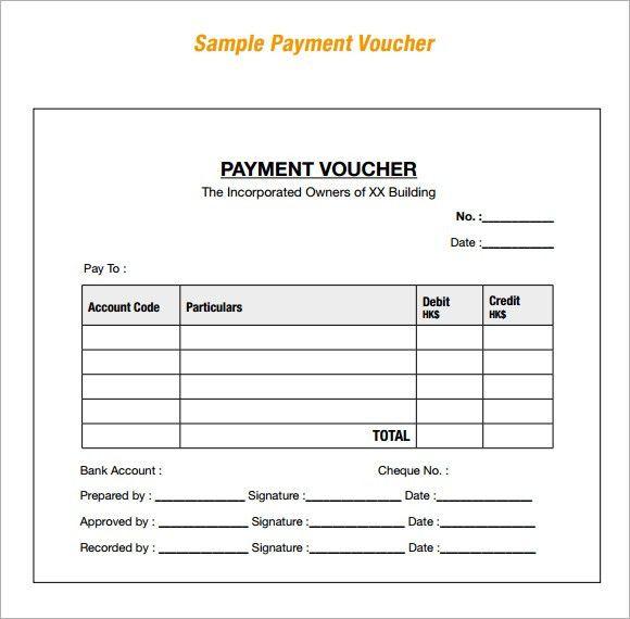 8+ Payment Voucher Templates - Word Excel PDF Templates