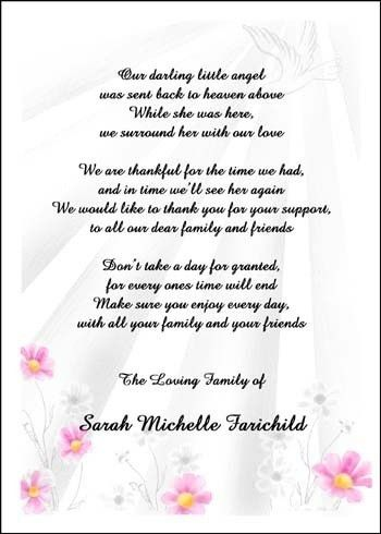 Thank You Card: Example Bereavement Thank You Card Wording ...