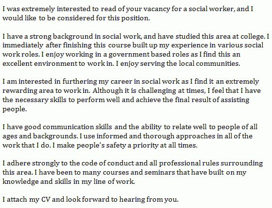 social worker cover letter example - Learnist.org