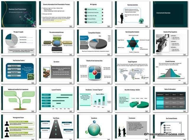 Business Card PowerPoint Template Set
