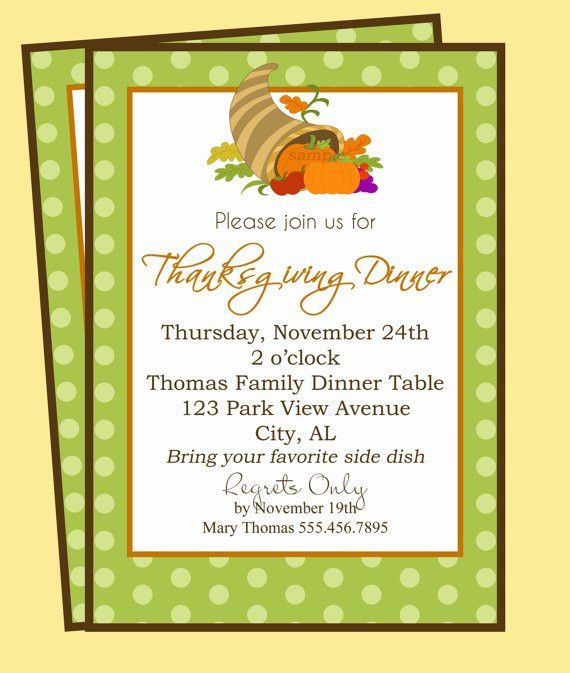 Thanksgiving Dinner Invitation Printable Fruitful Gathering