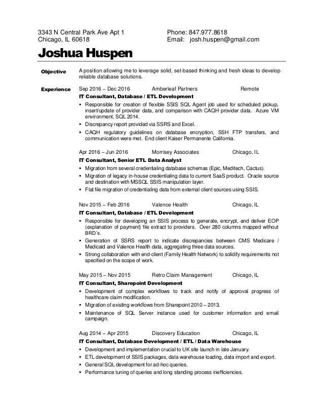 josh huspen - resume