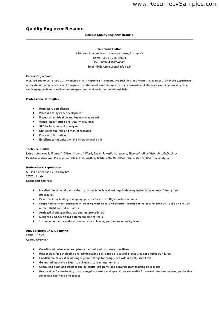 Download Medical Device Quality Engineer Sample Resume ...