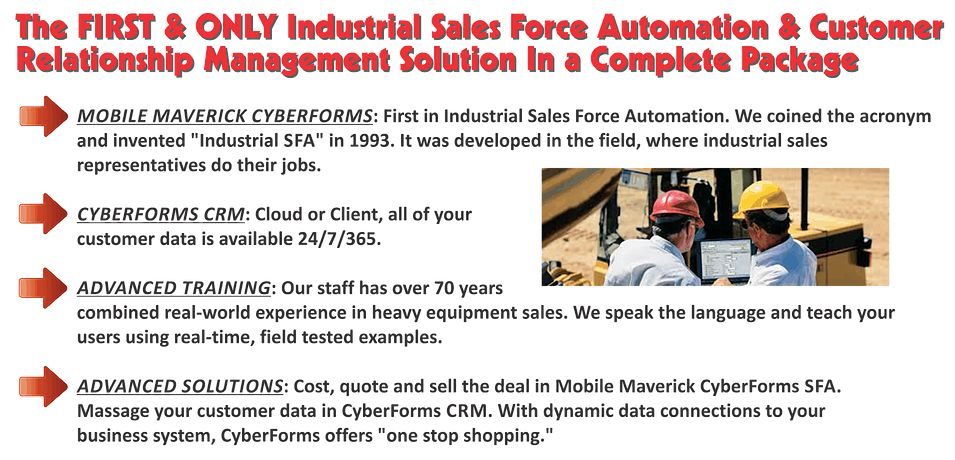 CyberForms Industrial Sales Force Automation and CRM