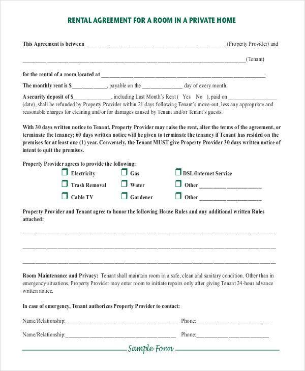 14+ Simple Rental Agreement Templates – Free Sample, Example ...