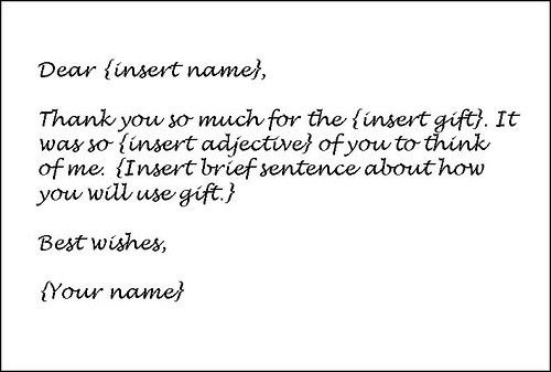 Collection of Solutions How To Write A Thank You Letter For Gift ...