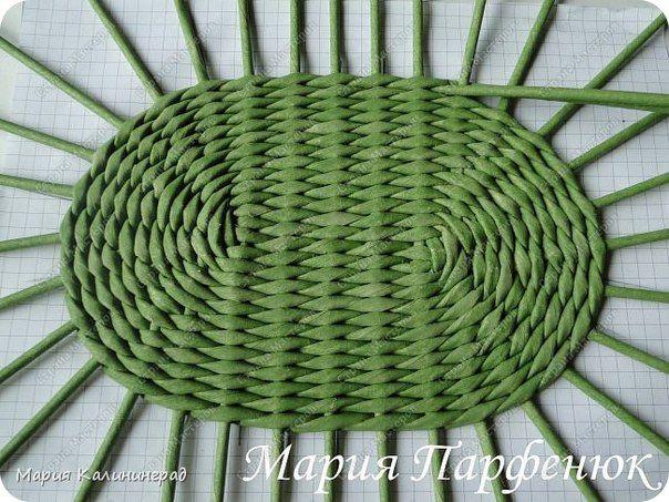 Плетение овального дна мария парфенюк