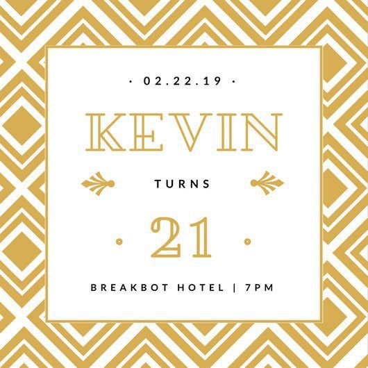 White and Gold Geometric Shapes Great Gatsby Invitation ...