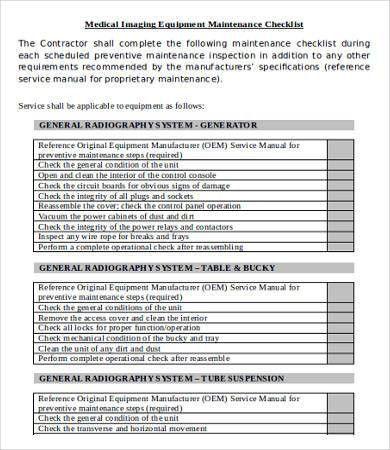 Checklist Sample Template 17 Checklist Templates Free Sample