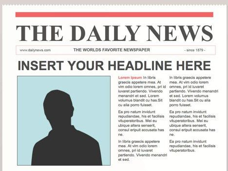 Editable Newspaper Template – Portrait