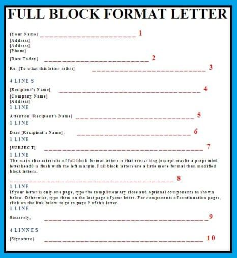 Block business format cover letter