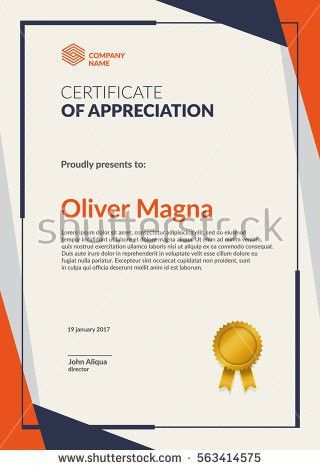 Modern Certificate Template Flat Creative Design Stock Vector ...
