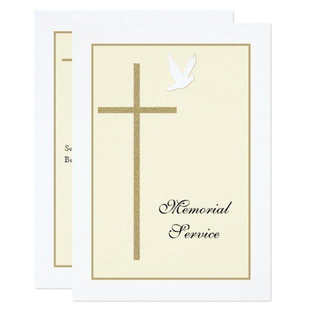 Christian Memorial Service Invitations & Announcements | Zazzle
