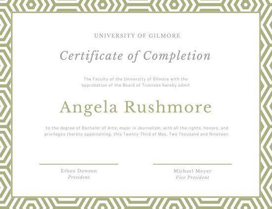 Course Certificate Templates - Canva