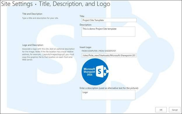 How To Add A Title, Logo, And Description In SharePoint 2016