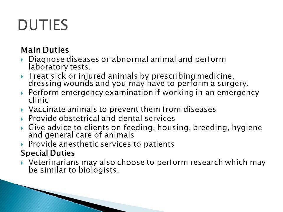 Veterinarian Specialist Physician Dentist.  Veterinarians (NOC ...