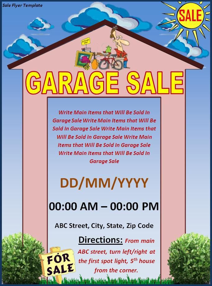 Garage Sale Flyer Template Archives - Fine Templates