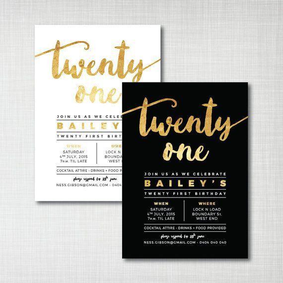 Birthday Invites: Exciting 21St Birthday Invitations Designs 21st ...