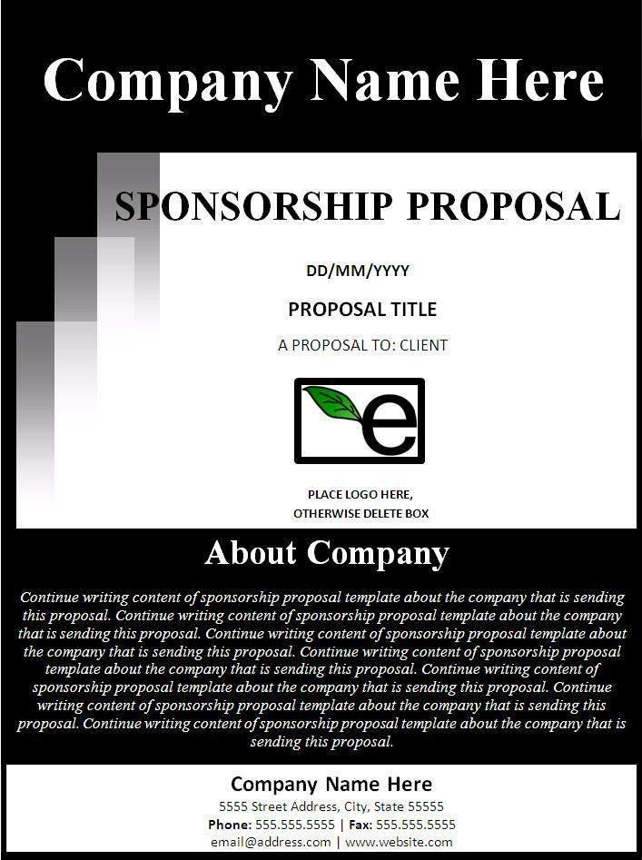 Sponsorship Proposal Template - Best Word Templates