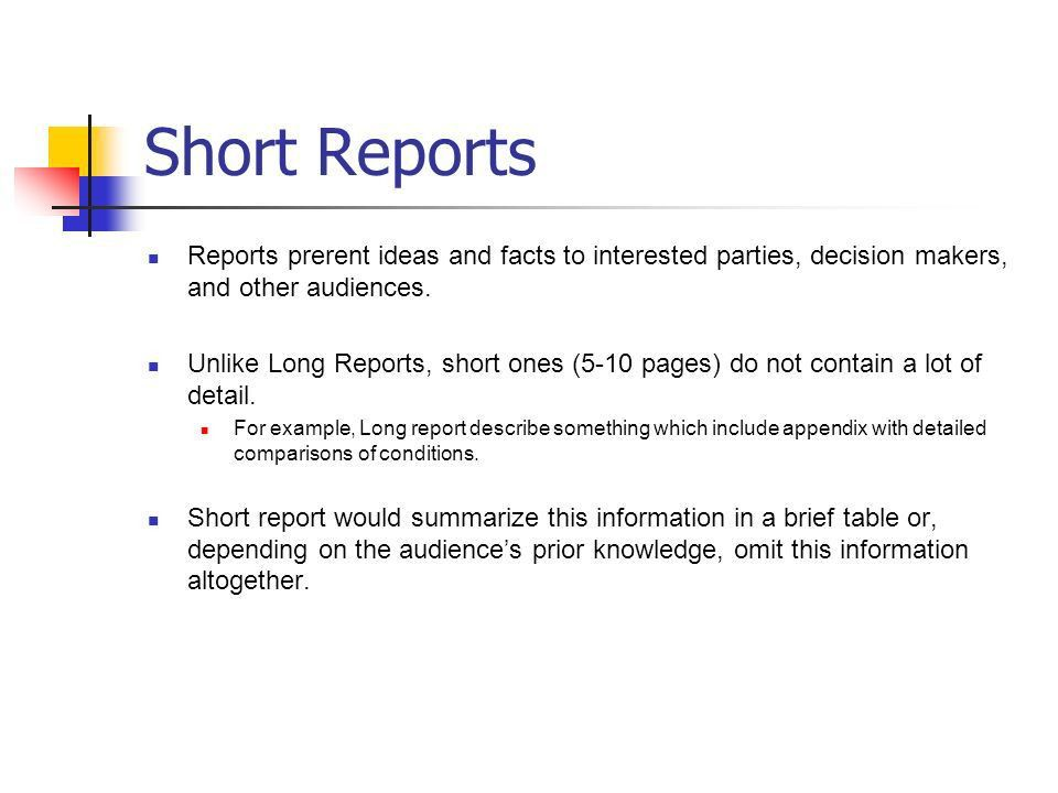 Short and Long Reports, Proposals and How to Read Paper - ppt ...