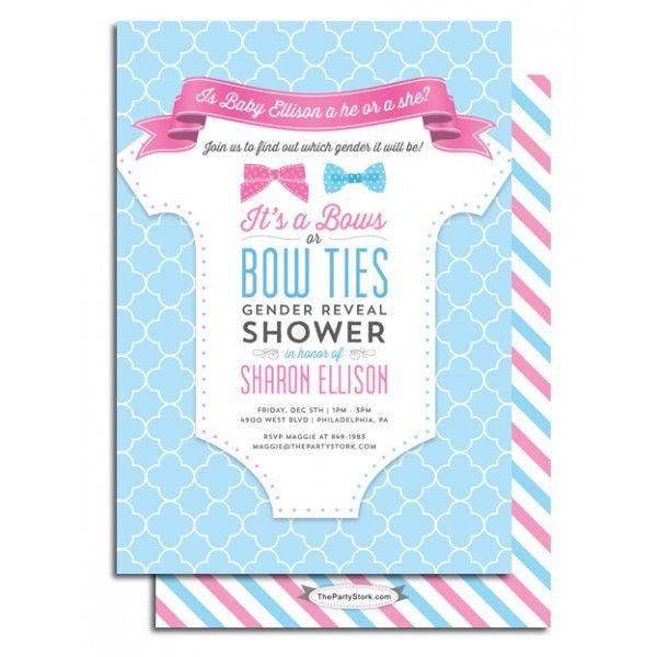 Gender Reveal Baby Shower Invitations | christmanista.com