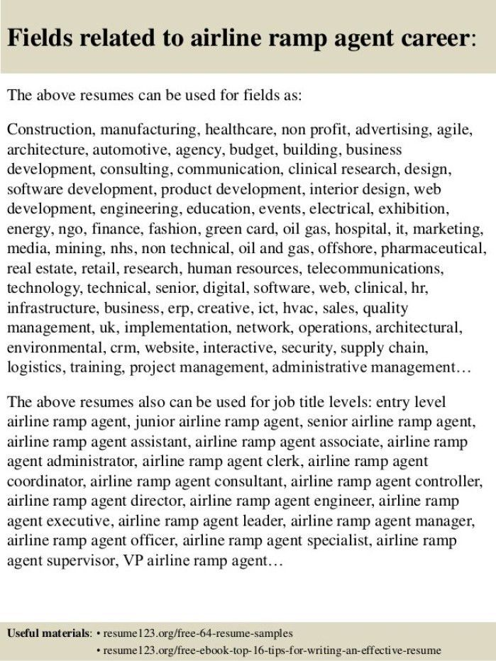 Ramp Agent Cover Letter