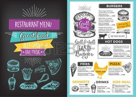 Menu Placemat Food Restaurant Brochure, Menu Template Design ...
