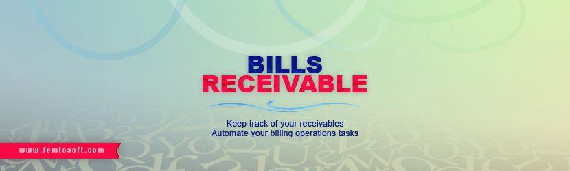 Bills Receivable Module - FemtoSoft for Information Systems