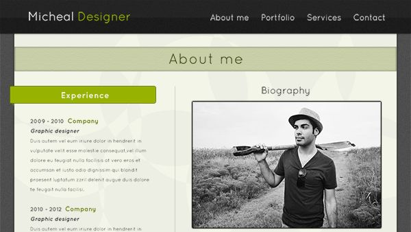 Simple Portfolio Web Template - Creative VIP