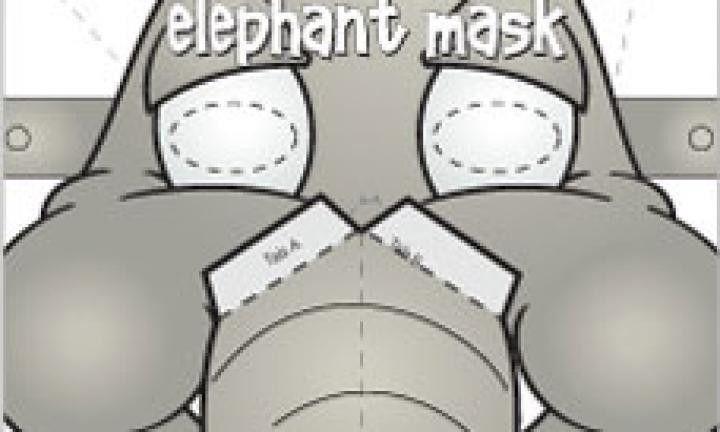 Elephant face mask template - Kidspot