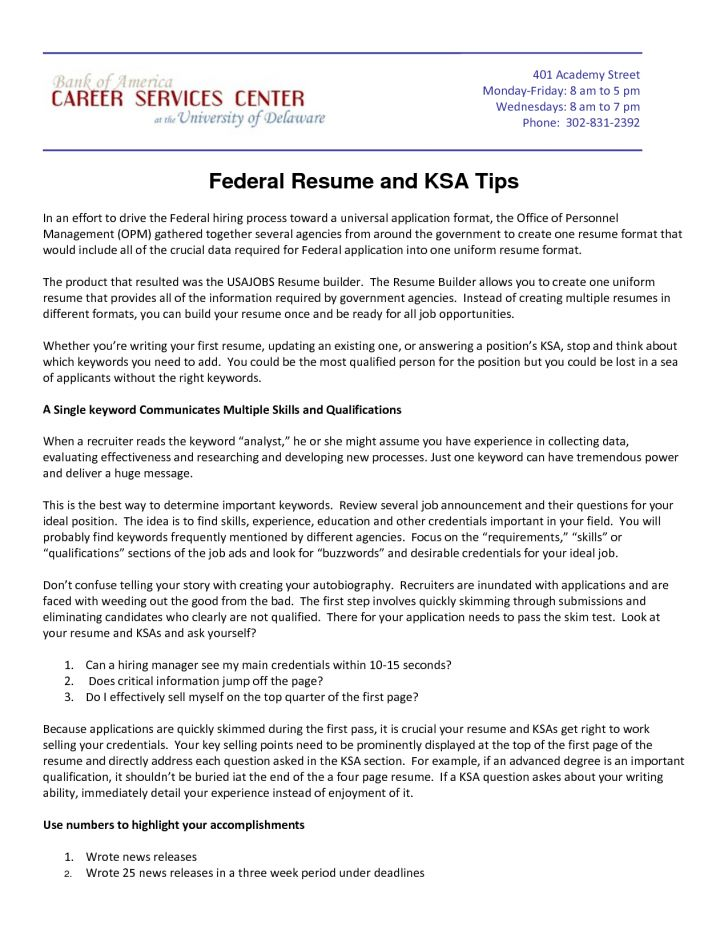 100+ [ Federal Resume Sample ] | Sample Federal Resume Free Resume ...