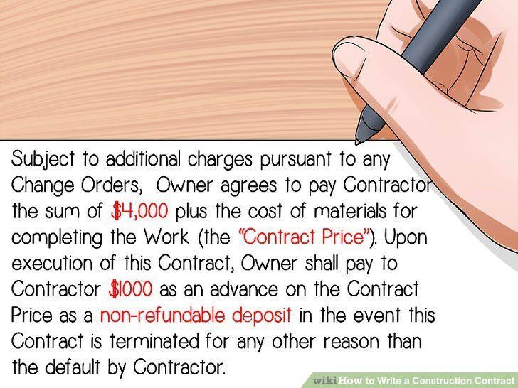 How to Write a Construction Contract: 12 Steps (with Pictures)