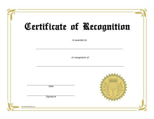 Award Certificate. Blank Art Award Certificate Art Award ...