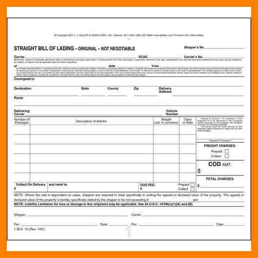 12+ straight bill of lading template | cv for teaching