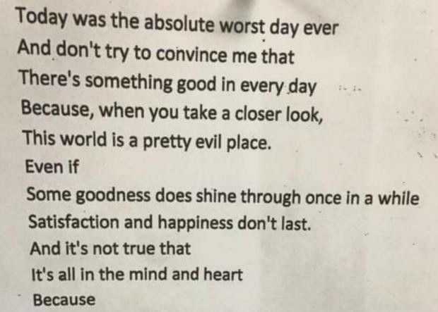 The hidden meaning behind this 'sad' poem will blow you away | indy100