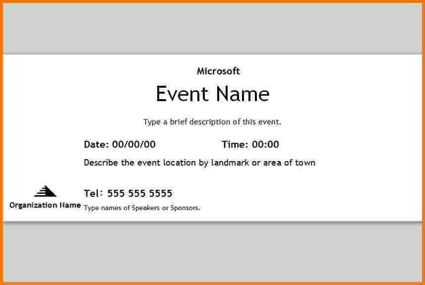 5 free event ticket template | Receipt Templates