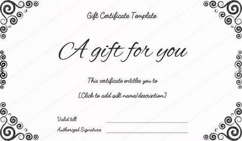 Bussiness Gift Certificate Template #gift #certificate #template ...