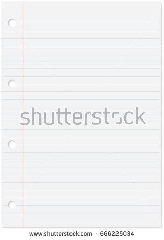 Blank White Paper Background Lined Page Stock Illustration ...