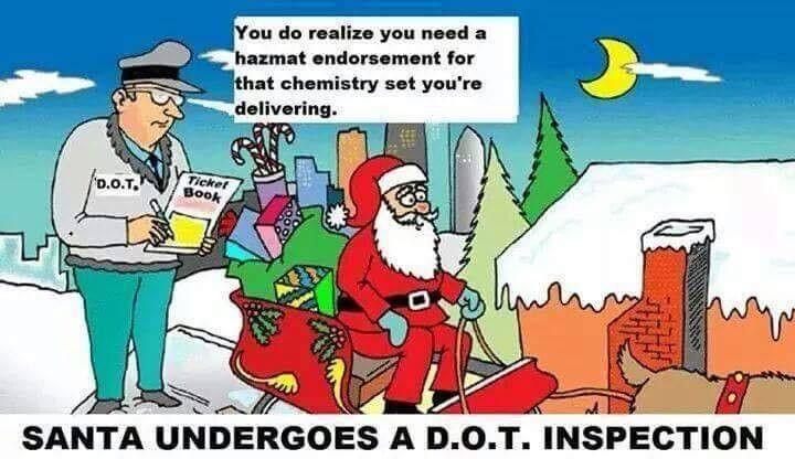 Santa undergoes a DOT inspection.... #trucking #trucker | Trucking ...
