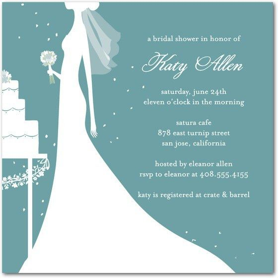 Bridal Invitation Wedding Shower Invitation Samples With White And ...