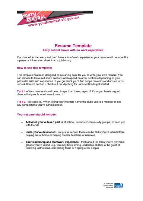resume template vic gov image collections certificate design and