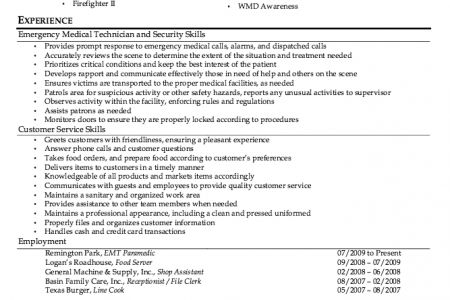 Firefighter Resume Samples Firefighter Paramedic Resume Examples ...