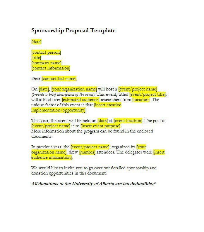 100+ Template For Proposal For A Project | Proposal Letter Pdf ...