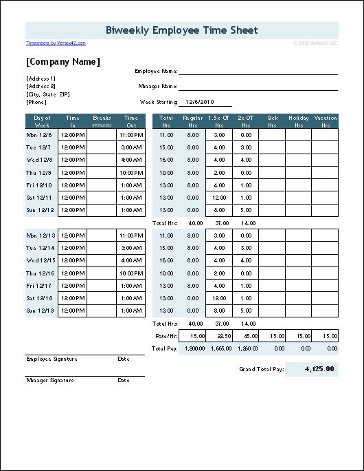 Free Time Card Calculator | Timesheet Calculator for Excel