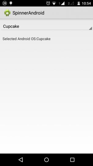 Android Spinner Example