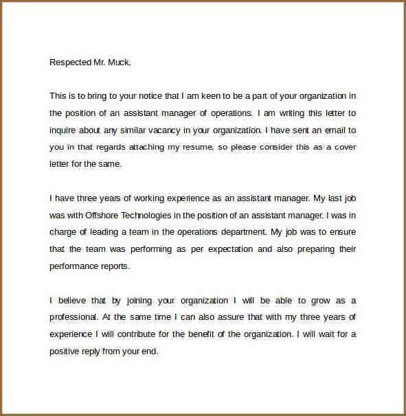 JOB INQUIRY EMAIL | proposal bid sheet