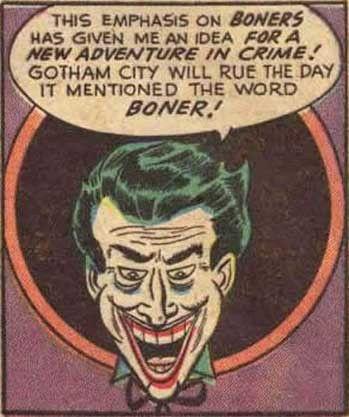Double Entendre Comics: Joker Boner