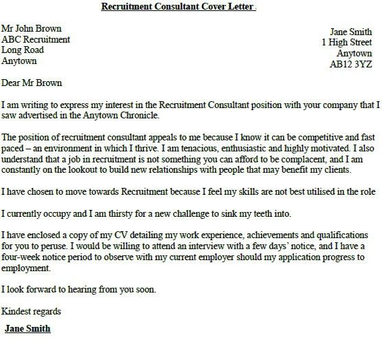 cover letter for recruitment consultant. top 5 recruitment ...